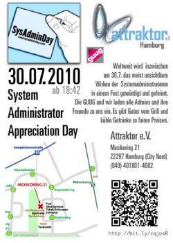 Flyer zum Sysadmin Day 2010